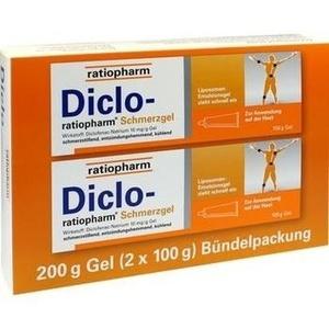 DICLO RATIOPHARM Schmerzgel Bündelpackung 2x 100g