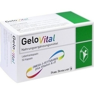 GELOVITAL Nahrungsergänzungsmittel Lebertran Kaps.