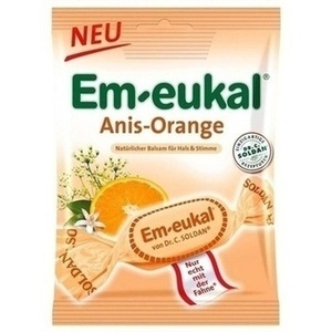 EM EUKAL Bonbons Anis Orange zuckerhaltig