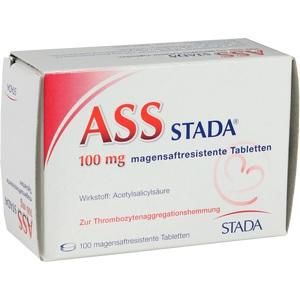 ASS Stada 100mg magensaftresistente Tabletten
