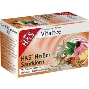 H&S heißer Sanddorn Vitaltee Filterbeutel