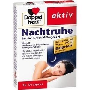DOPPELHERZ Nachtruhe Baldrian Einschlaf-Dragees N