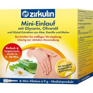 ZIRKULIN Mini-Einlauf mit Glyzerin Klistiere