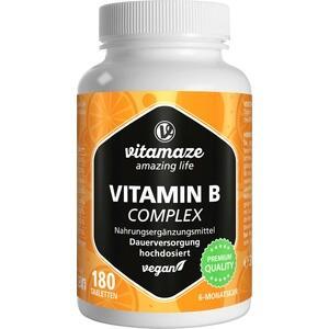 VITAMIN B COMPLEX hochdosiert vegan Tabletten