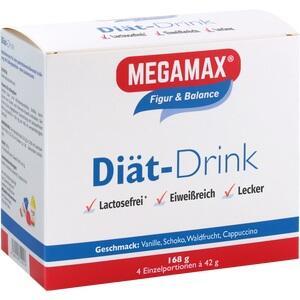 MEGAMAX Diät Drink 4 Sorten Pulver