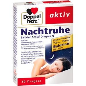 DOPPELHERZ Nachtruhe Baldrian Schlaf-Dragees N