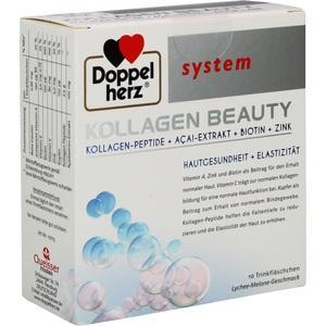 DOPPELHERZ Kollagen Beauty system Trinkfläschchen