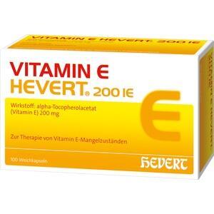 VITAMIN E HEVERT 200 I.E. Weichkapseln