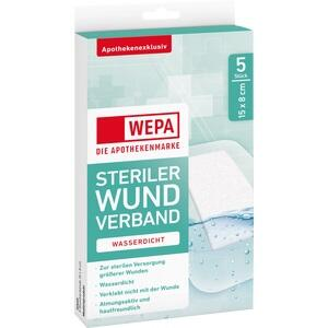 WEPA Wundverband wasserdicht 8x15 cm steril