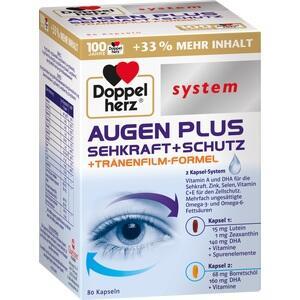 DOPPELHERZ Augen plus Sehkraft+Schutz system Kaps.