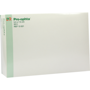 PRO-OPHTA Kompressen 5,5x7,5 cm unsteril