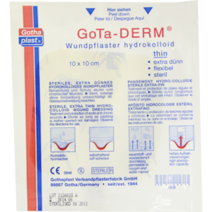 GOTA-DERM thin hydrokoll.Wundpfl.steril 10x10 cm