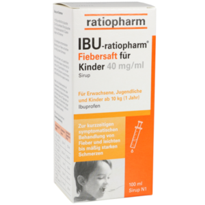 IBU-RATIOPHARM Fiebersaft für Kinder 40 mg/ml