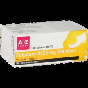 FOLSÄURE ABZ 5 mg Tabletten