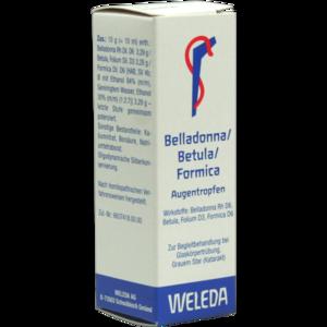 BELLADONNA/BETULA/FORMICA Augentropfen