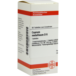 CUPRUM METALLICUM D 6 Tabletten