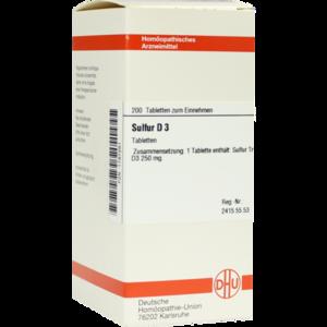SULFUR D 3 Tabletten