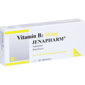 VITAMIN B2 10 mg Jenapharm Tabletten