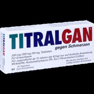 TITRALGAN Tabletten gegen Schmerzen