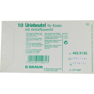 URINBEUTEL f.Kinder m.Antirefluxventil
