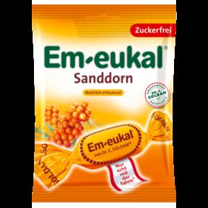 EM EUKAL Bonbons Sanddorn zuckerfrei
