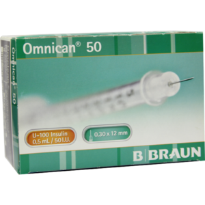 OMNICAN Insulinspr.0,5 ml U100 m.Kan.0,30x12 mm