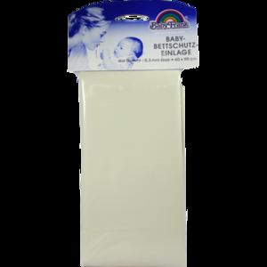 BABY BETTEINLAGEN Gummi 60x90 weiß