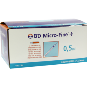 BD MICRO-FINE+ Insulinspr.0,5 ml U100 12,7 mm
