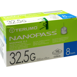 TERUMO NANOPASS 32,5 Pen Kanüle 0,22x8 mm