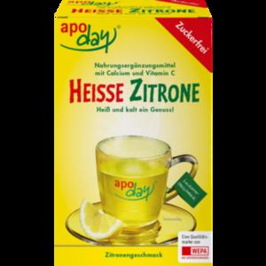 APODAY heiße Zitrone Vit.C u.Calcium zuckerfr.Plv.
