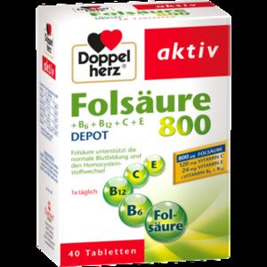 DOPPELHERZ Folsäure 800+B-Vitamine Tabletten
