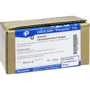 LIDOCAIN PRESSELIN 1% Injektionslösung