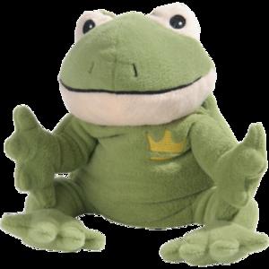 WÄRME STOFFTIER Frosch Willi grün