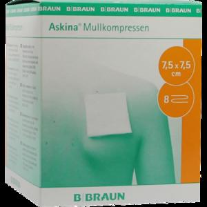 ASKINA Mullkompressen 7,5x7,5 cm steril