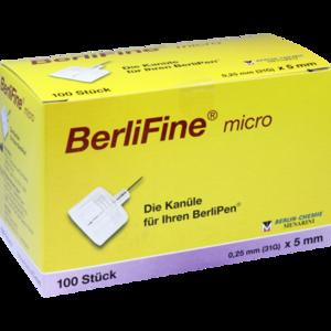 BERLIFINE micro Kanülen 0,25x5 mm