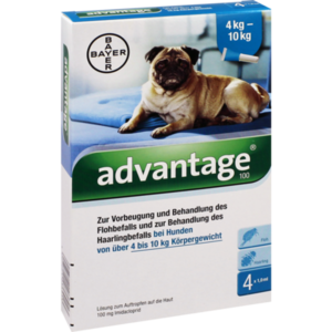 ADVANTAGE 100 Lösung f.Hunde 4-10 kg
