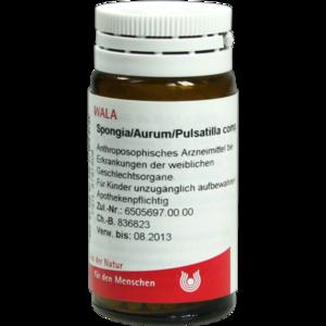 SPONGIA/AURUM/Pulsatilla comp.Globuli