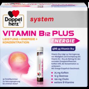 DOPPELHERZ Vitamin B12 Plus system Trinkampullen