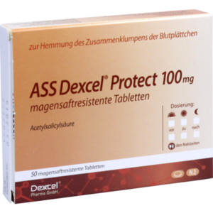 ASS Dexcel Protect 100 mg magensaftres.Tabletten