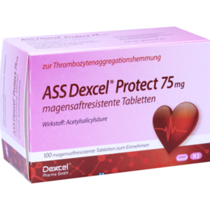 ASS Dexcel Protect 75 mg magensaftres.Tabletten