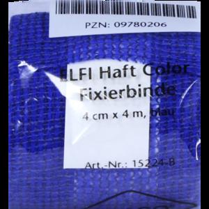 DRACOELFI haft color Fixierbinde 4 cmx4 m blau