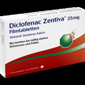 DICLOFENAC Zentiva 25 mg Filmtabletten