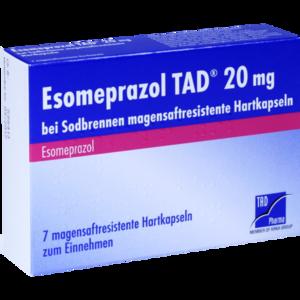 ESOMEPRAZOL TAD 20 mg bei Sodbrennen msr.Hartkaps.