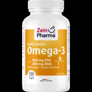 OMEGA-3 Gold Herz DHA 300mg/EPA 400mg Softgel-Kap.