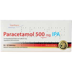 PARACETAMOL 500 mg IPA Tabletten