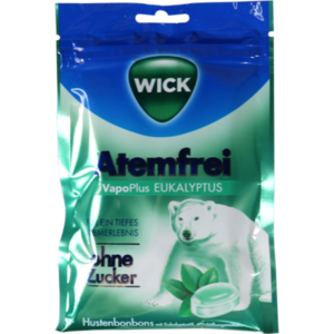 WICK Atemfrei Eukalyptus Bonbons o.Zucker Beutel