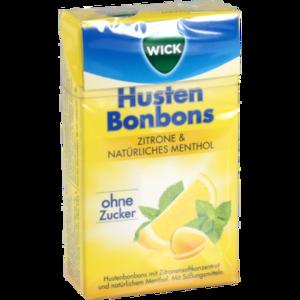 WICK Zitrone & nat.Menthol Bonb.o.Zucker Clickbox