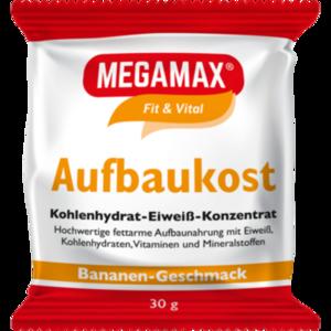 MEGAMAX Aufbaukost Banane Pulver