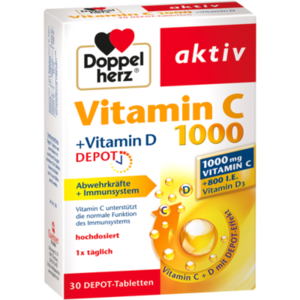DOPPELHERZ aktiv Vitamin C 1000+Vitamin D Depot