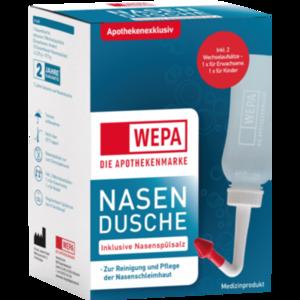 WEPA Nasendusche mit 10x2,95 g Nasenspülsalz
